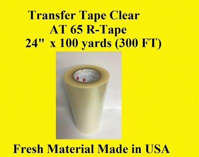 "Transfer Tape Clear  1 Roll 24"" x 300 ft  Made in usa"