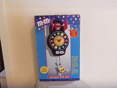 M&M's World Collectible Animated Wall Clock