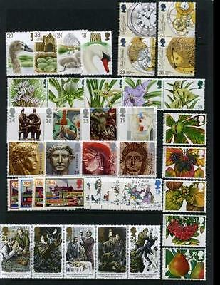 SG1639-43/54-57/59-63 1767-92 1993 COMMEMORATIVES YEAR SET 9 Sets Unmounted Mint