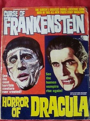 Warren magazine 1964 Curse of Frankenstein/Horror of Dracula magazine