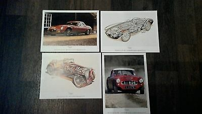 4 Small Prints From Classic Cars Magazine )