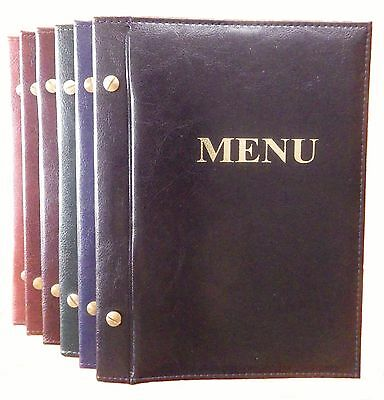 SALE !!! MENU COVER A5 holder 6 pockets sewn & bolted folder catering RESTAURANT
