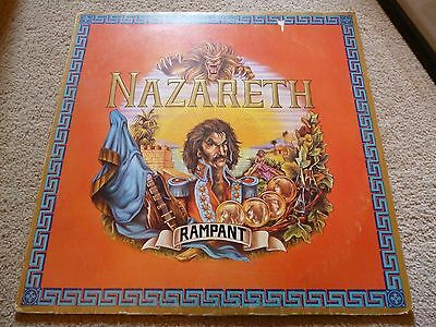 Rare Nazareth Rampant First Pressing Embossed Sleeve Au-1