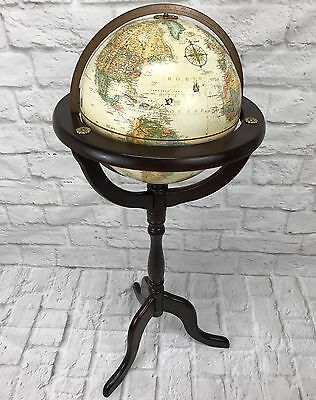 "Vintage Globe Replogle 12"" World Classic Series Standing Globe w/ Bombay Stand"