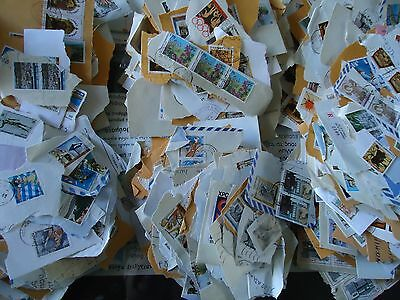 -Greece  4000 Greek Stamps Used On Paper