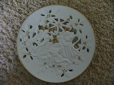 """Lenox """"The Heralding Angels"""" 1994 collector plate fine porcelain w/ box"""