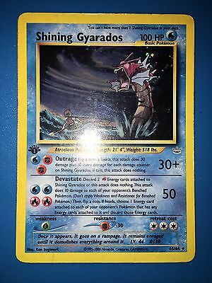Shining Gyarados 1ed First Edition 65/64 Excellent/Played Condition