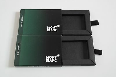 2 EMPTY Montblanc Irish Green Ink Cartridge Boxes + cartridge. Collect / Upcycle