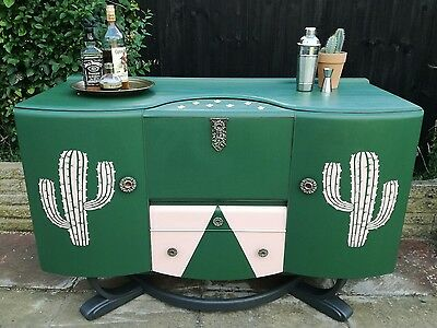 Vintage art deco style cocktail cabinet sideboard buffet