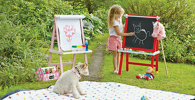 Wooden Kids Easel / Red and Blue