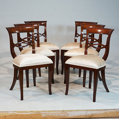 Set of 6 Biedermeyer style mahogany Traditional dining chairs