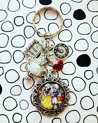 Beauty and the Beast Charm keyring Belle inspired jewellery Tale as Old as Time