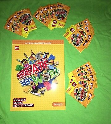 20 Packs + 1 Album LEGO Create The World Official Trading Cards Collector's Book
