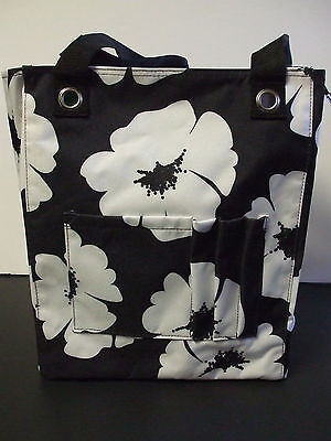 Thirty One Tall Organizing Tote White Poppy NEW