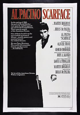 SCARFACE ✯ CineMasterpieces 1983 ORIGINAL MOVIE POSTER TONY MONTANA AL PACINO