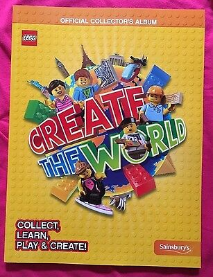 LEGO Sainsbury's Create The World Official Collector's Album New Book For Cards