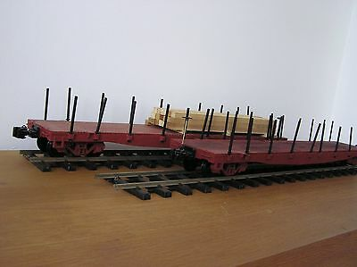 G-Scale  Two D&RGW Class 65XX Class Fishbelly Flat Cat