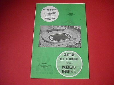 1963/64 European Cup Winners Cup Sporting Club De Portugal V Man Utd (1964)