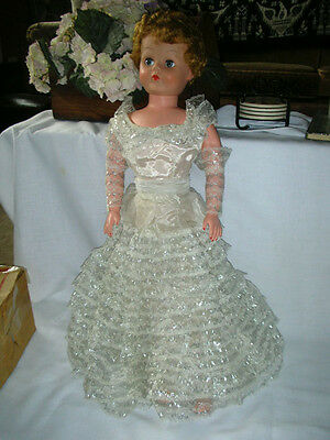 "Vintage 1950's Betty The Beautiful Bride 30"" Doll By Deluxe Premium Corp W/ Box"