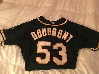 Felix Doubront GAME USED WORN Oakland Baseball Jersey Sick Patch '15 Memorabilia