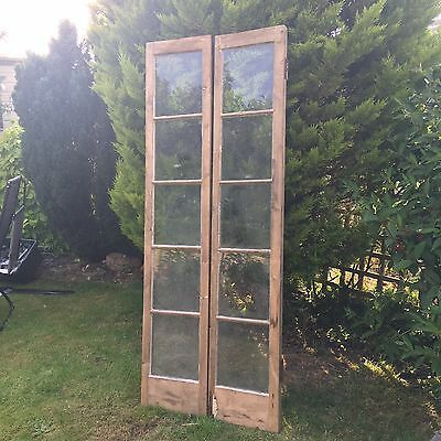 Beautiful Old French style Doors Stripped 5 glazed panes each