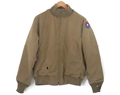 WWII Tanker Jacket Named US Military Uniform w/Insignia Badge 9th Infantry