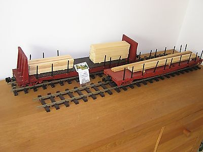 G-Scale Two D&RGW Class 65XX Fishbelly Flatcars