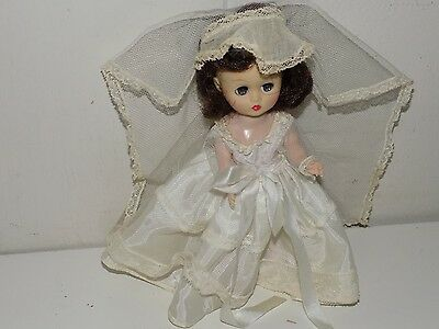 "Vintage Cosmopolitan Ginger Bride Walker 8"" Wedding Doll"