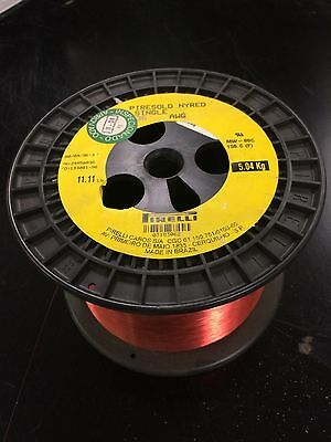 Pirelli, 36 Awg, Piresold Nyred, Single, Magnet Wire, 1 Spool, 7.8#