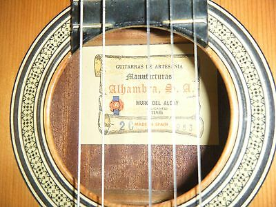 Spanish Guitar Guitarra Alhambra De 1983. Made In Spain.