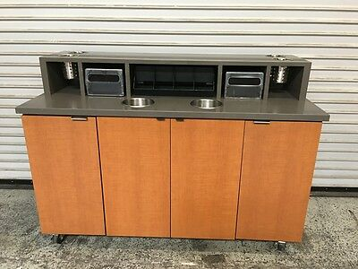 """59"""" Condiment Coffee Prep Trash Station Cart Starbucks #6571 Commercial Cafe"""