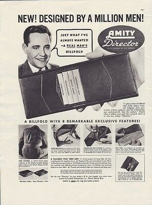 """1937 Amity Leather Products Ad """"Director"""""""