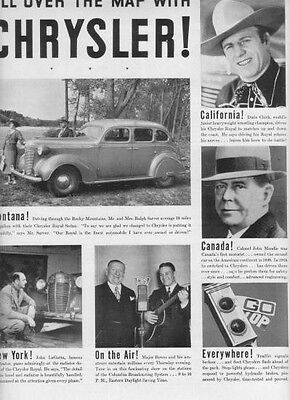 "1937 Chrysler Sedan Ad ""All Over The Map"""