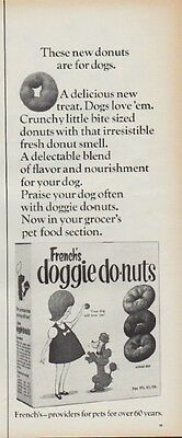 """1967 French's doggie donuts Ad """"A delicious new treat"""""""