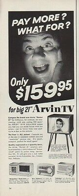 """1955 Arvin TV Ad """"Pay More?"""""""