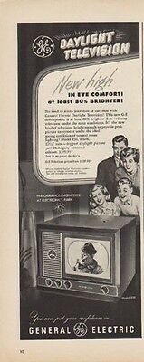 """1949 General Electric Ad """"Daylight Television"""""""