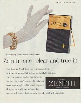 """1958 Zenith Ad """"Something you've never heard before"""""""