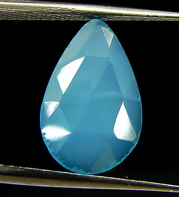 2.20 Ct Natural Blue Chalcedony Loose Faceted Gemstone Beautiful Stone - 10835
