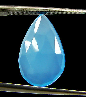 2.80 Ct Natural Blue Chalcedony Loose Faceted Gemstone Beautiful Stone - 10834