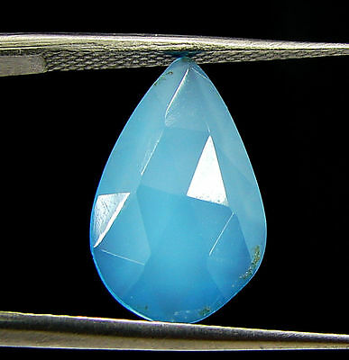 2.60 Ct Natural Blue Chalcedony Loose Faceted Gemstone Beautiful Stone - 10825