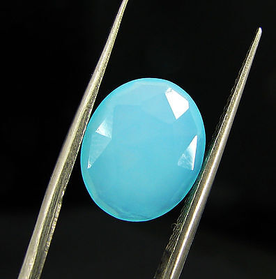 2.85 Ct Natural Blue Chalcedony Loose Faceted Gemstone Beautiful Stone - 10781
