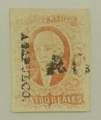 MEXICO Stamp Scott #4, 4 Reales, SEE PICS!