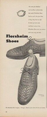 """1949 Florsheim Shoes Ad """"The same fine leathers ..."""""""