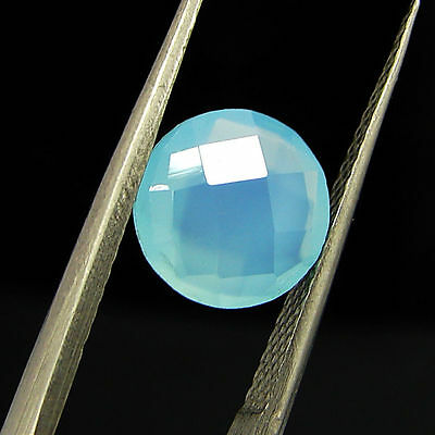 1.70 Ct Natural Blue Chalcedony Loose Faceted Gemstone Beautiful Stone - 10775