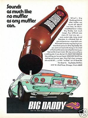 1971 Big Daddy Muffler on Chevrolet Camaro Built for Sound Print Ad.