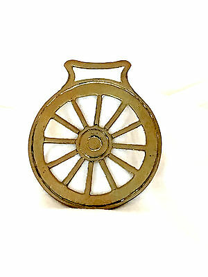 Vintage Brass Horse Harness/bridle/medallion/ornament - Wheel 2