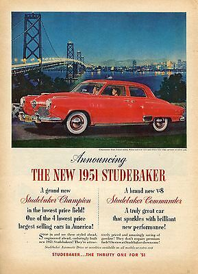 1950 for 1951 Studebaker Commander State Car Print Ad