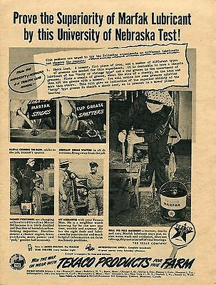 1945 Texaco Products For Farm Marfak Lubricant Havoline Motor Oil Print Ad