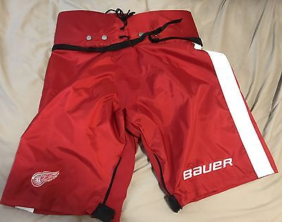 """New Pro Stock Bauer Hockey Pant Shell Detroit Red Wings L+1"""""""