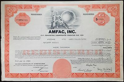 Amfac, Inc Cancelled Stocks Certificate